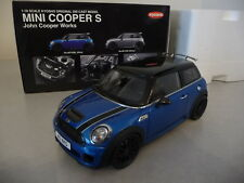 MINI COOPER S JOHN COOPER WORKS Bleu / blue  - KYOSHO 1/18