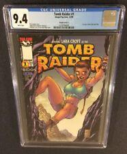 TOMB RAIDER #1 Comic Book CGC 9.4 Michael Turner Variant Cover LARA CROFT Image