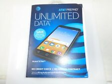 """Alcatel Tetra AT&T Prepaid Cell Phone  5"""" 16GB Android Stealth Black SEALED!"""