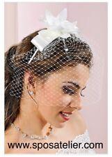 Fermacapelli Con Retina Per Sposa Ricamato A Mano Con Perle Swarovski