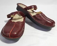 Beautiful Alegria Maroon Floral Rocker Shoes SZ US 6W EU 36W EUC
