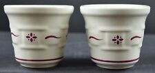 Longaberger Pottery Woven Traditions Traditional Red 2 Pack Candle Votive Cups