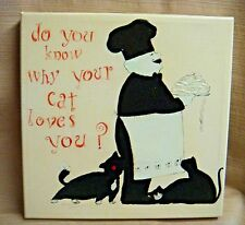 DOMINGUEZ Black & White GICLEE CANVAS PRIINT Do You Know Why Your Cat Loves You?