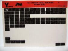 Yamaha XT500 1981 XT500H Dual Purpose Parts List Manual Microfiche n21
