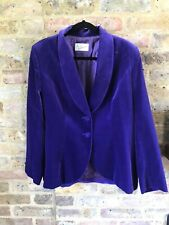 Vintage Velvet Blazer Jacket House of Colour 16 Cadbury's purple