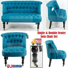 Dark Blue Single & Double Seater Sofa Chair Living & Dining Room Office Armchair