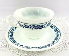 Corning Corelle Old Town Blue Onion Coffee/Tea Cups & Saucers Set of 4 Vintage