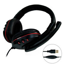 USB Wired Gaming Earphone Control Headphone Stereo Sound Noise Canceling Headset