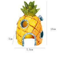 Aquarium Ornament Aquarium SpongeBob Ananas Abendessen Haus Harz M7D8 Decor R9A1