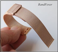 Quality 18mm ALL ROSE GOLD MESH Bracelet Band Fits ALL WATCH 4 Womens Mens
