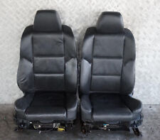 BMW 5 Series E60 E61 Black Leather Front Sport Seats Driver Passenger Side