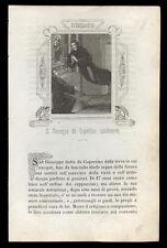 santino incisione 1800 S.GIUSEPPE DA COPERTINO
