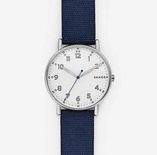 Skagen SKW6356 Navy Nylon Leather Gents Watch, 40mm Case, 5 ATM RRP $199