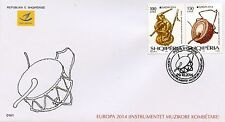 Albania Stamps 2014. Europa CEPT, National musical instruments. FDC set MNH