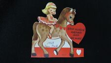 Vintage Circus Pony and Ballet Dancer Valentine Card c. 1950s