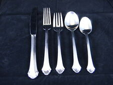 5 PIECE PFALTZGRAFF MERIDIAN STAINLESS STEEL SILVERWARE-SVC FOR 1-EXC