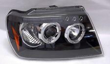 Black Projector Halo Angel Eye Headlights Fits Jeep Grand Cherokee 1999-2004
