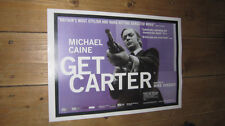 Michael Caine Get Carter Repro Film Blue POSTER
