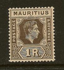 MAURITIUS: 1938 1 rupee grey-brown   SG 260  mint