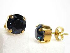 SoHo® Ohrstecker geschliffene Kristalle vergoldet montana dunkelblau blau demin