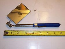"""INSPECTION MIRROR TELESCOPING EXTENDS TO 32"""", 7"""" CLOSED  2'X4"""" MIRROR FREE SHIP"""