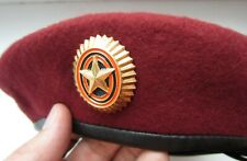 Genuine NEW MANY SIZES Russian Army Officer Specnaz Red Beret Military Maroon