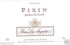 Etiquette de vin - FIXIN