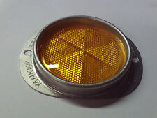Yankee Aluminum Armored Marker Reflectors for Mailboxes Drive Ways Etc. - Amber