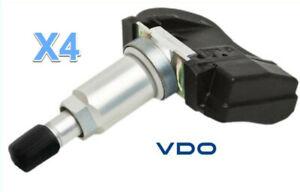 4 TPMS Kits VDO REDI-Sensor Replace OEM # 06421SCV305 315 Mhz