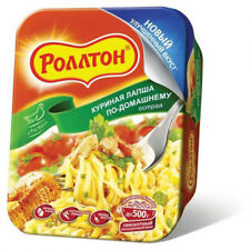 NEW Instant Noodle Soup ROLLTON Spicy Chicken flavour 90g. Роллтон куриный лапша