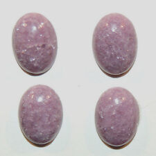 Lepidolite Cabochons 10x14mm with 4.5mm dome Set of 4 (12160)