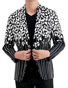 INC Mens Sport Coat Black Size Large L Slim Fit Two-Button Stretch $129 #151