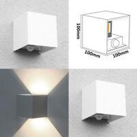 2X LED Lámpara de Exterior Luz Pared con Sensor Movimiento 7W