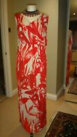AUTOGRAPH Red & Ivory Floral Maxi Dress Size UK 14