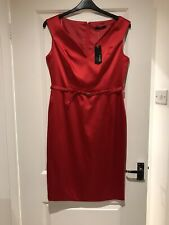 Sexy Little Red Dress Satin Sateen Party Wedding Occasion Size 14 Sofia Loren