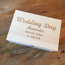 Personalised Wedding Bride Groom Bridesmaids Keepsake Memories Gift Box