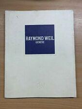 RAYMOND WEIL PRECISION MOVEMENTS 1994 CATALOGUE PRICE BROCHURE
