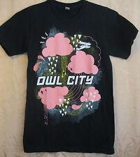 OWL CITY AUTHENTIC 201? PINK CLOUDS RAIN CONCERT TOUR SHIRT XS EX COND+ OOP