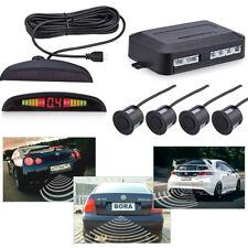 4 Parking Sensors LED Display Car Vehicle Backup Reverse Radar System Alarm Kit