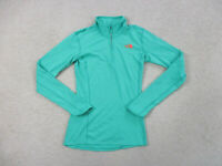 The North Face Sweater Womens Extra Small Green Orange Lightweight TNF Ladies