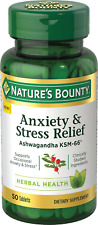 Nature's Bounty Anxiety & Stress Relief, Ashwagandha KSM-66, 50 Ct, UK 🇬🇧