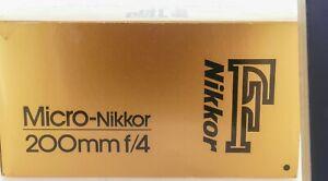 Nikon Ai 200mm f/4 Micro , garantito, ottime condizioni