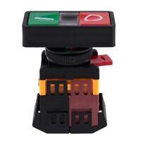 AC 220V Gelbes Licht EIN-AUS START STOP Taster Drucktaster 1 NO 1 NC T1J3 j1