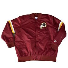 Vintage Washington Redskins Starter Satin Quilted Lining Snap Jacket 3XL XXXL