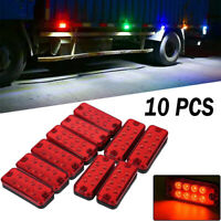 """10x 4"""" Red 8LED Clearance Side Marker Light Indicator Lamp Truck Trailer Lorry"""