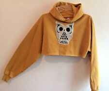 FURST OF A KIND LF VINTAGE DISTRESSED 1/2 Cropped Shirt Hoodie Owl