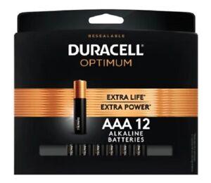 Duracell Optimum AAA Alkaline Batteries, Pack Of 12