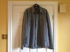Mens Navy/ Grey Stripe Shirt. Long Sleeve. Jack& Jones Xl