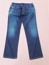 bcf76855 D356 WOMENS DIESEL DARK BLUE LOW RISE STRAIGHT LEG DENIM JEANS 12 W30-31 L30