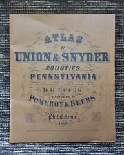 RARE VINTAGE 1975 Atlas of Union & Snyder Counties Pennsylvania 1867: D.G. Beers